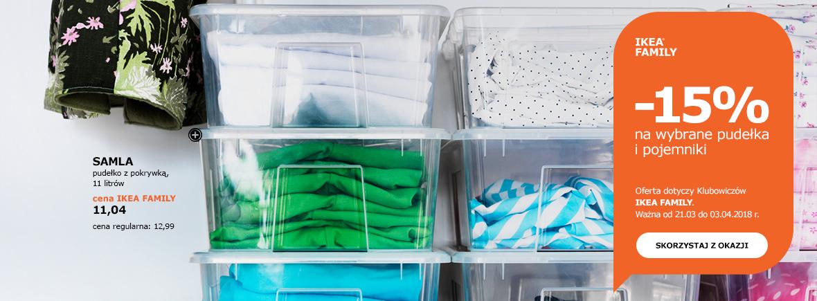 -15% na wybrane pudełka i pojemniki @ Ikea Family