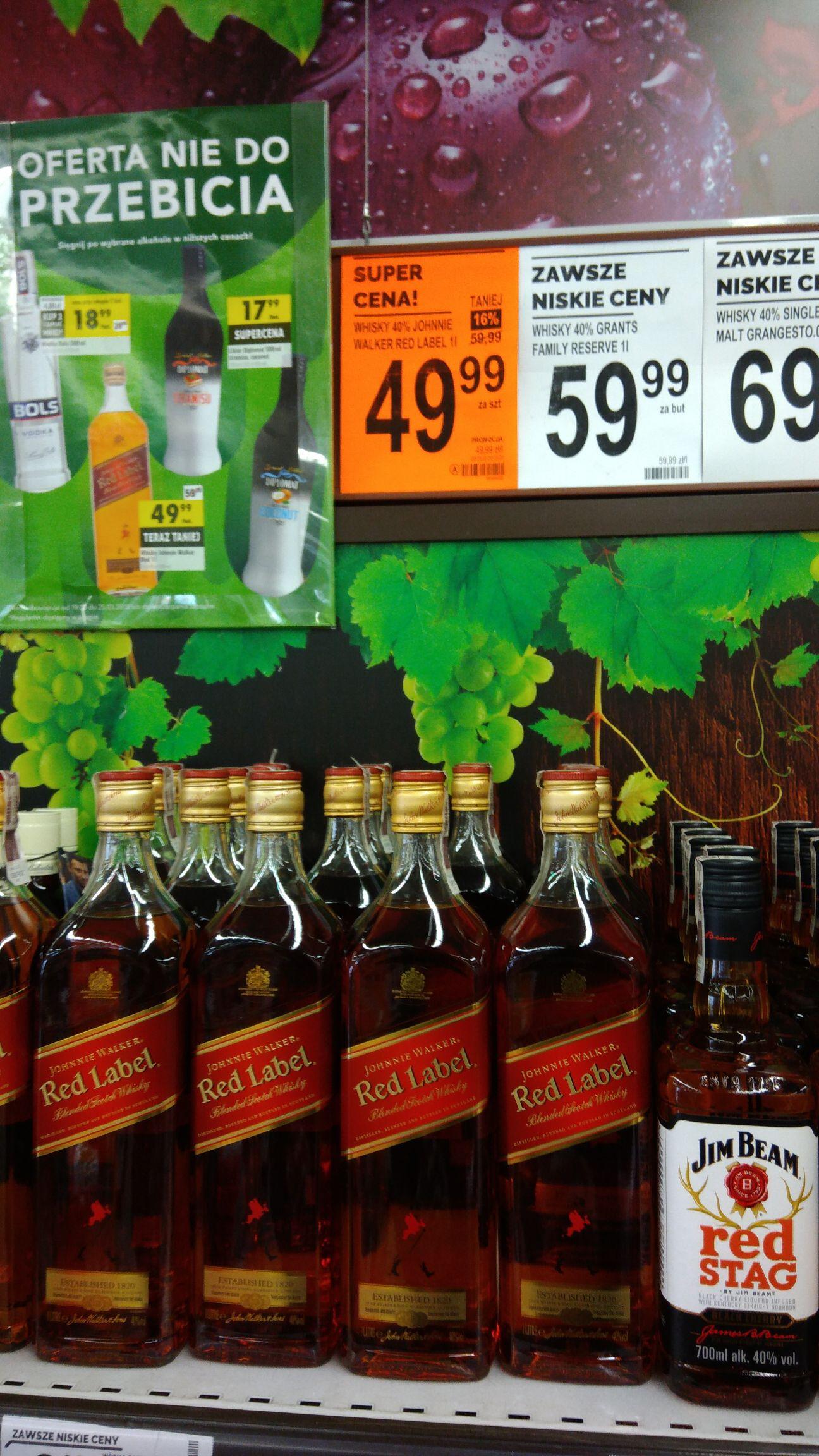 Johnnie Walker red label 1 litr biedronka