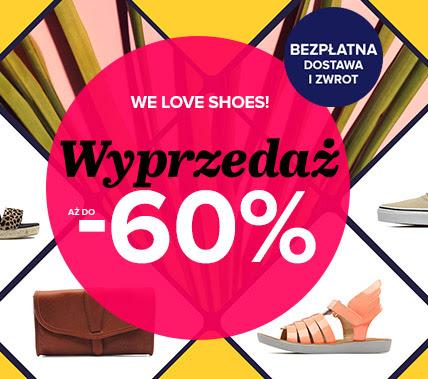 Wyprzedaż do -60% (ponad 3000 modeli butów oraz torebek!) @ Sarenza
