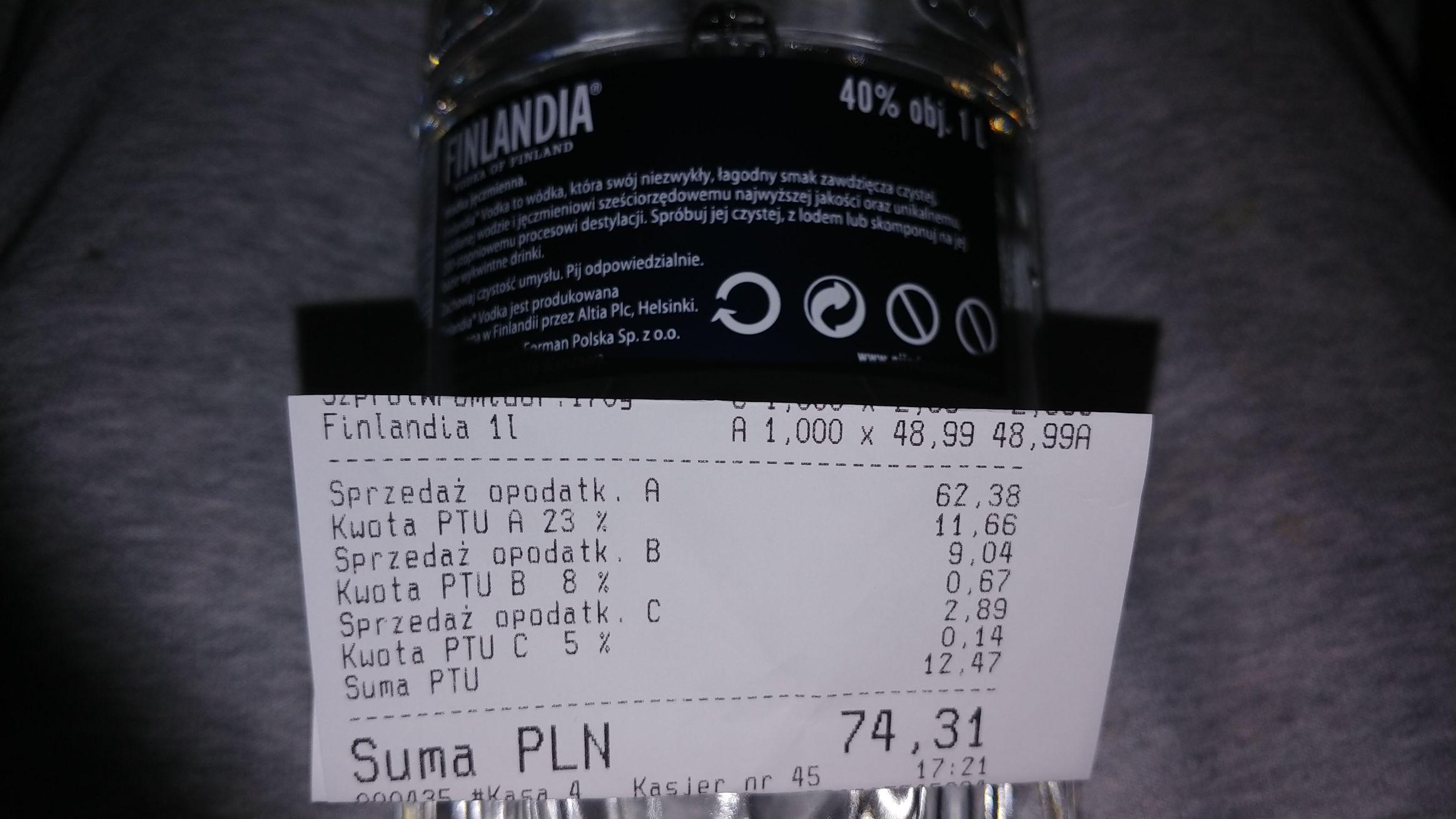 Finlandia 1 litr biedronka