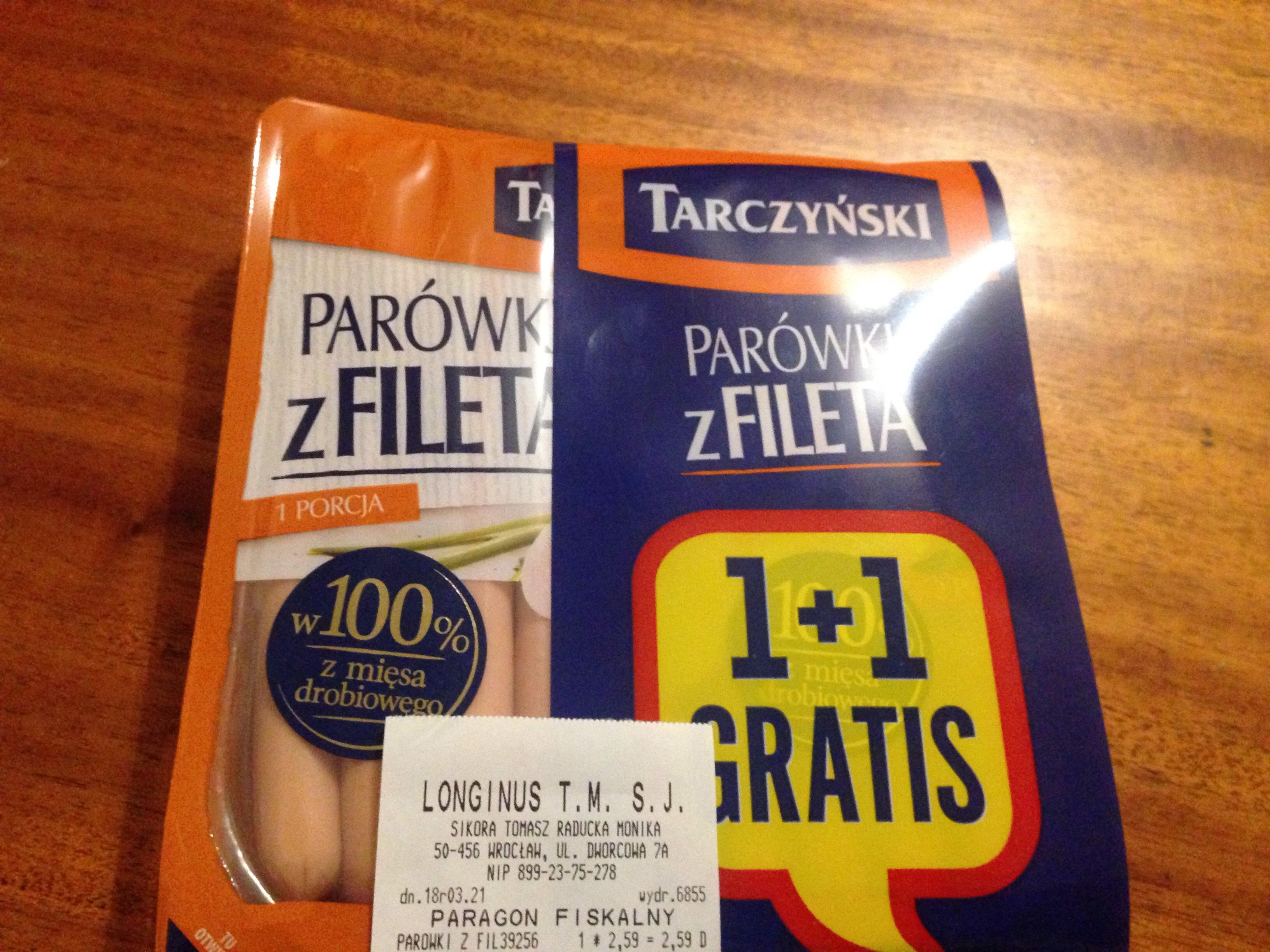 Parówki z fileta Tarczyński @Wrocław
