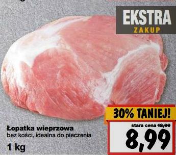 Łopatka wieprzowa bez kości 8,99zł/1kg @ Kaufland