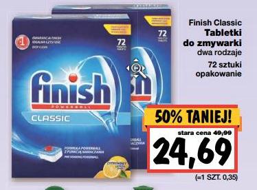 Tabletki do zmywarek Finish Classic w cenie 24,69zł/ 72szt. @ Kaufland