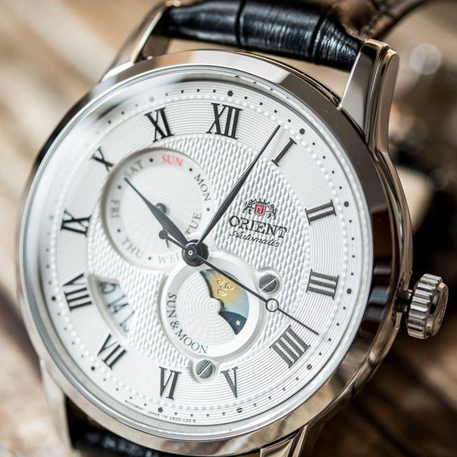 Zegarek Orient Sun & Moon V3 - FAK00002S0 lub FAK00004B0, automat, szafirowe szkło