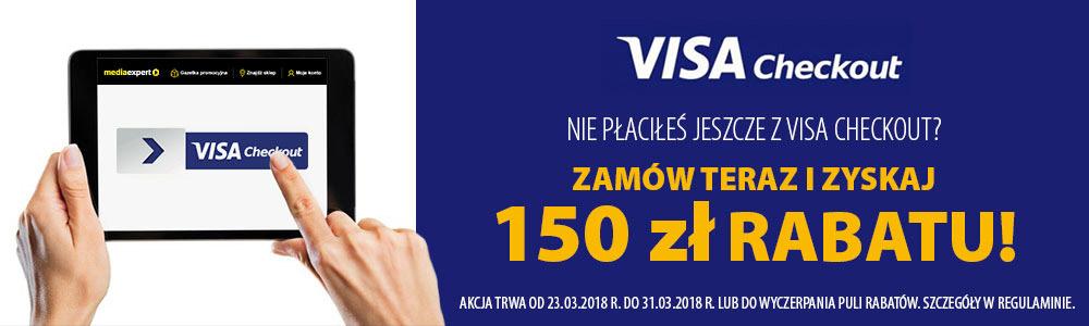 Do 150 zł rabatu z Visa Checkout w Media Expert.