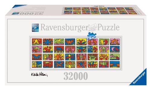 (AKTUALIZACJA!) Ravensburger Keith Haring: Double Retrospect - 32000 elementów (544x192cm) - największe Puzzle na świecie @ Amazon.de