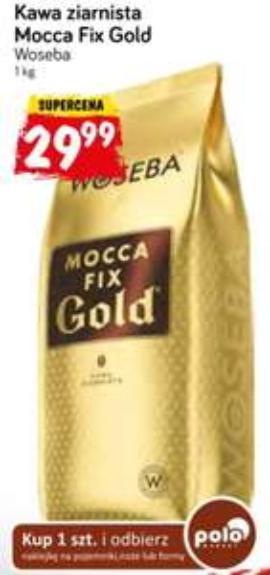 [Polomarket]  Woseba Mocca Fix Gold Kawa palona ziarnista 1000 g