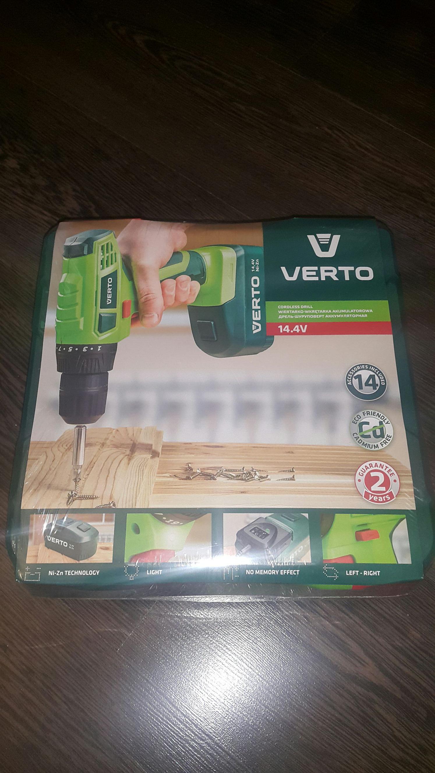 Wiertarko-wkrętarka VERTO 50G185 14.4V Kaufland