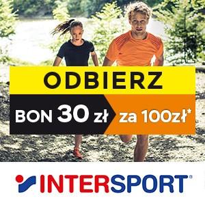 Bon o wartości 30zł za każde wydane 100zł (na kolejne zakupy) @ Intersport