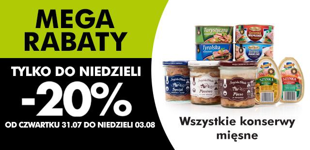 Wszystkie konserwy mięsne do 20% taniej @ biedronka