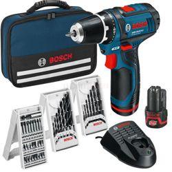 Wiertarko-wkrętarka GSR 12 V-15 + akcesoria Bosch 0615990GA9