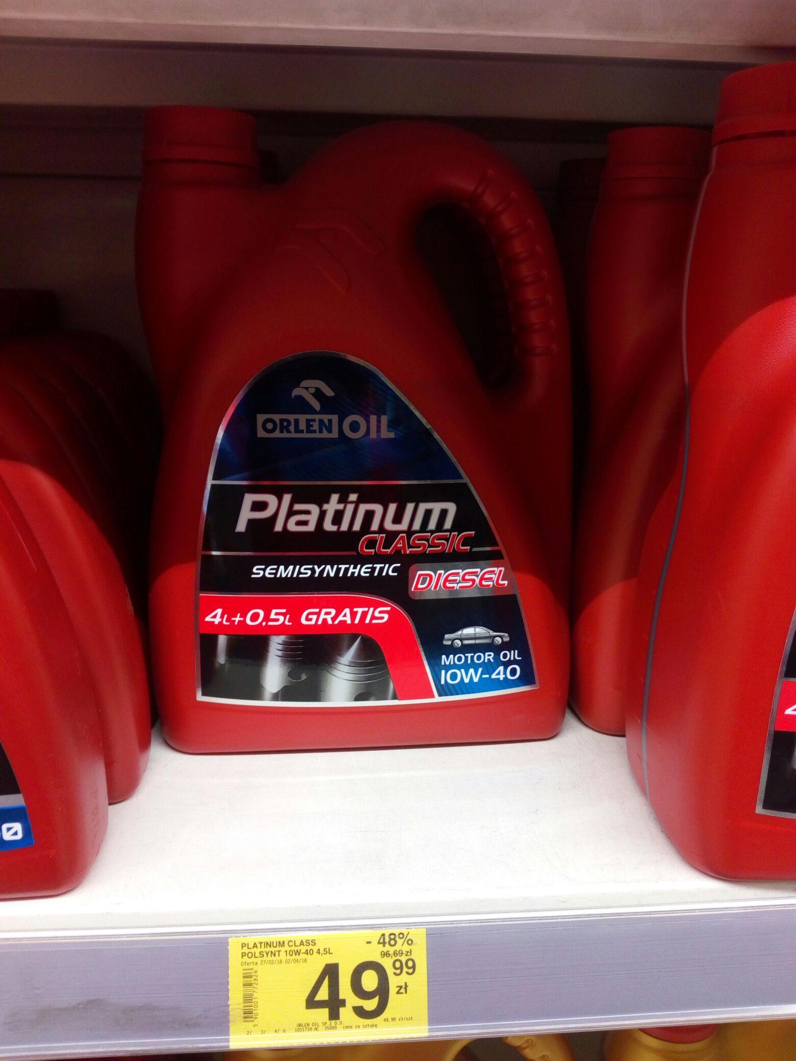 Olej Platinum 4.5 L Diesel CARREFOUR