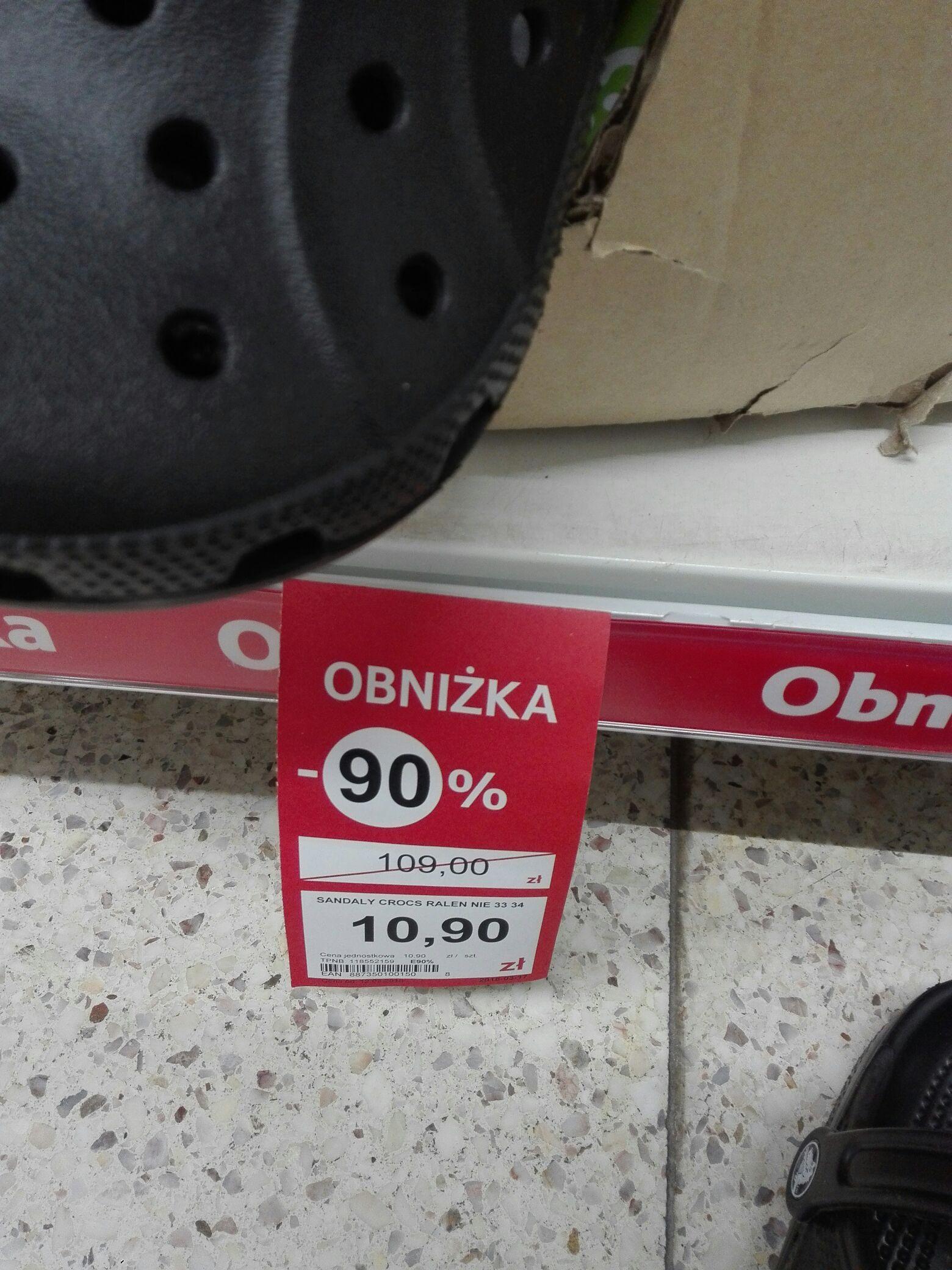 Crocsy za 10.9 PLN @ tesco (małe rozmiary)