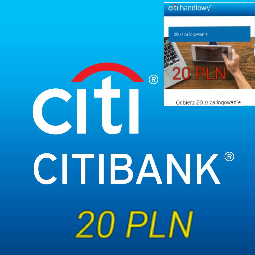 CITIBANK online 20pln za zalogowanie mobilne