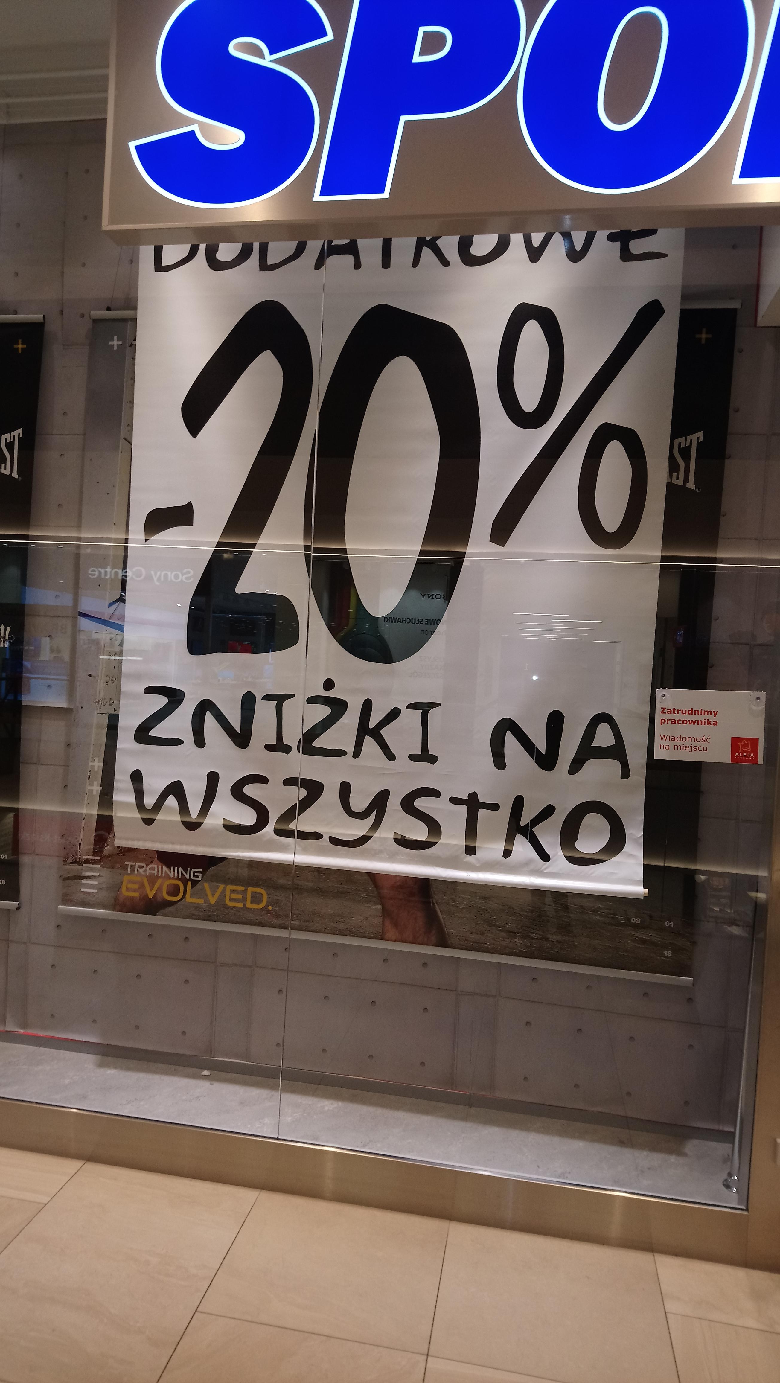 Dodatkowe 20%zniżki na wszystko w Sport Direct Wroclaw-Bielany