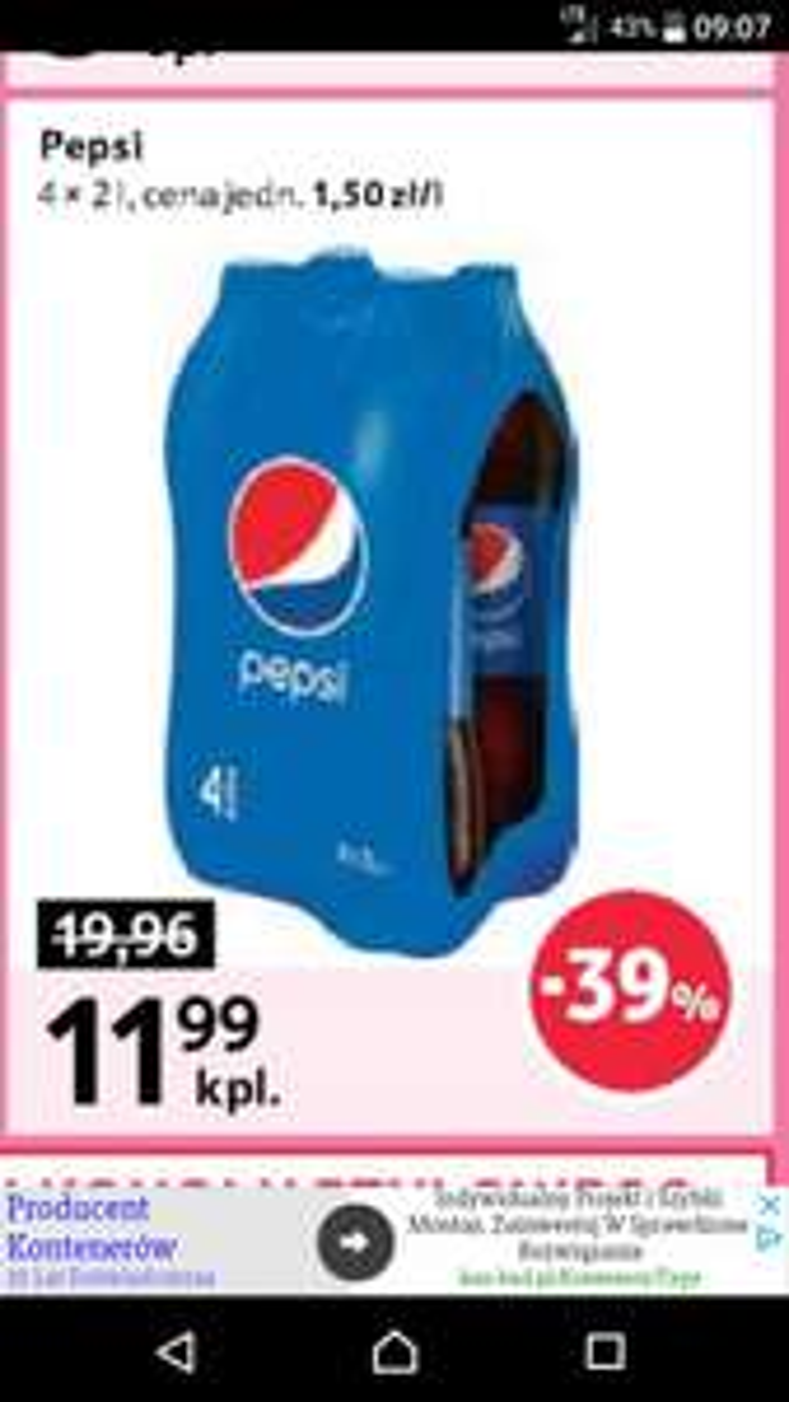 Pepsi 4x2L