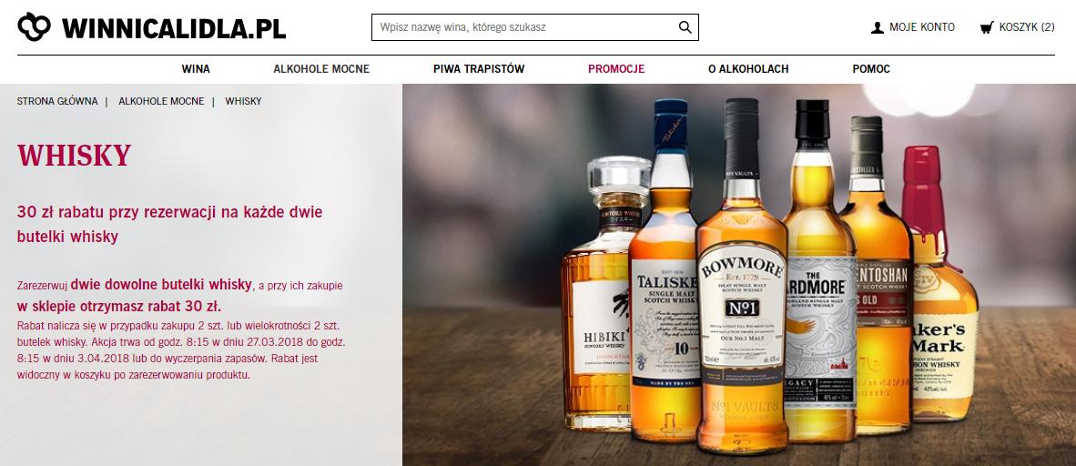 2 butelki whisky z rabatem 30zł +10% @ Winnica Lidla
