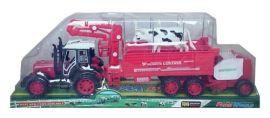 Traktor z przyczepą i krową (47cm) za 18zł z dostawą @ Lideria