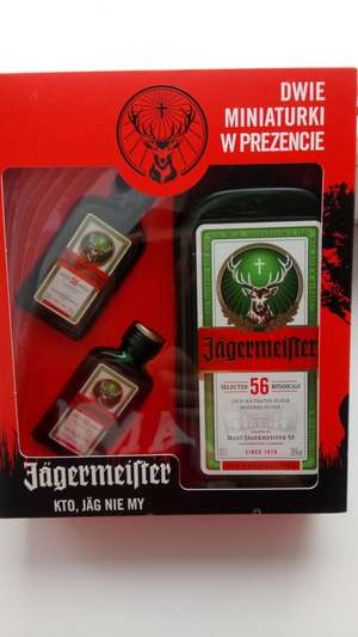 0,7 Jagermeister + dwie miniaturki w Lidlu