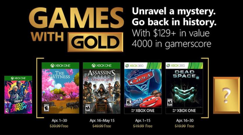 Games With Gold Kwiecień 2018 [Xbox One & Xbox 360]