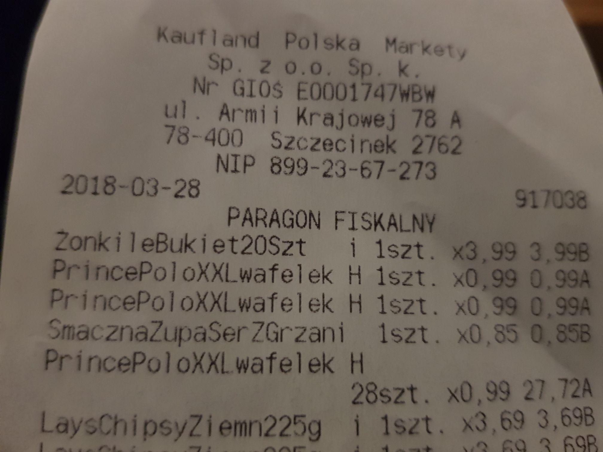 Prince polo xxl różne smaki Kaufland