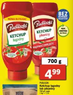 Ketchup Pudliszki 700g w Lidlu