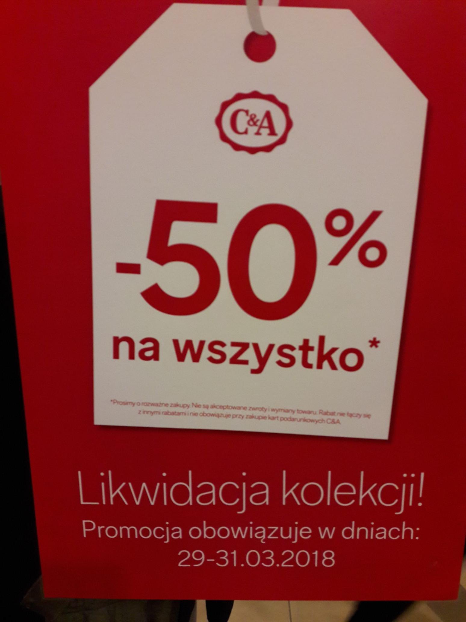 -50% na wszystko C & A Opole CH Solaris