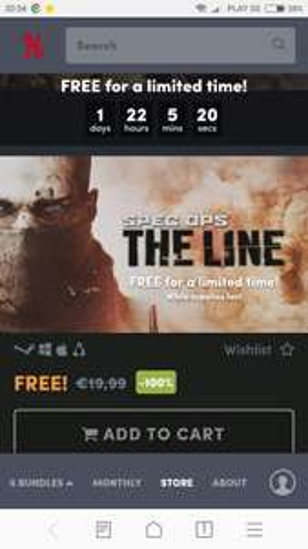 Humble Bundle         Spec Ops: The Line