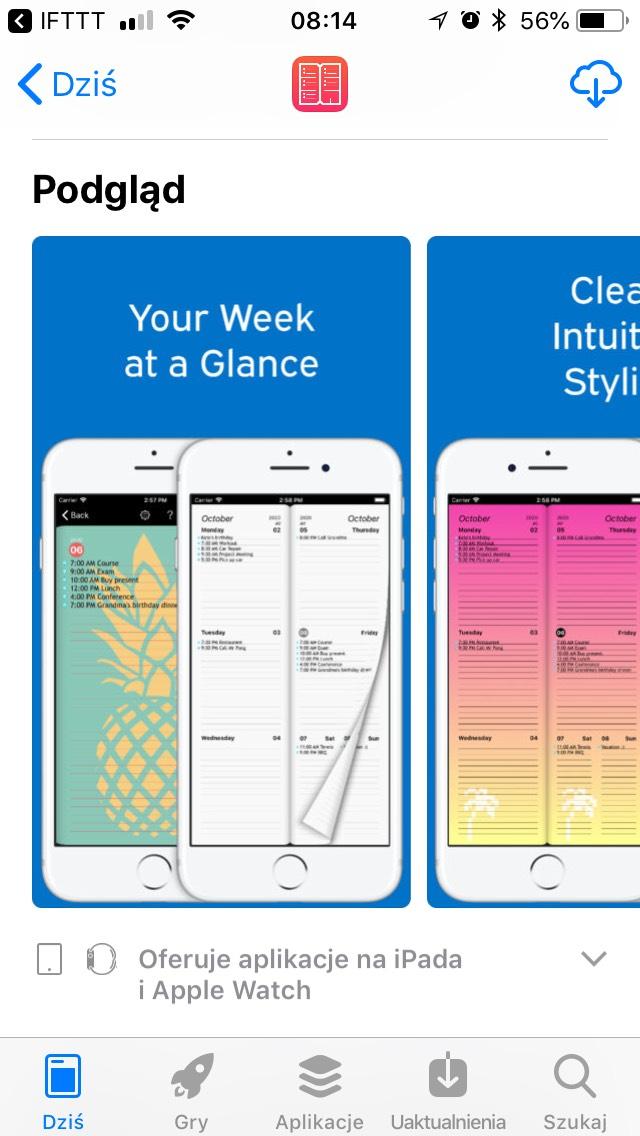 Week Agenda Ultimate — Jak papierowy kalendarz dla iOS