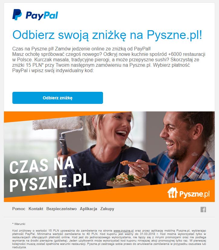 15 PLN zniżki dla Ciebie na Pyszne.pl 15/40