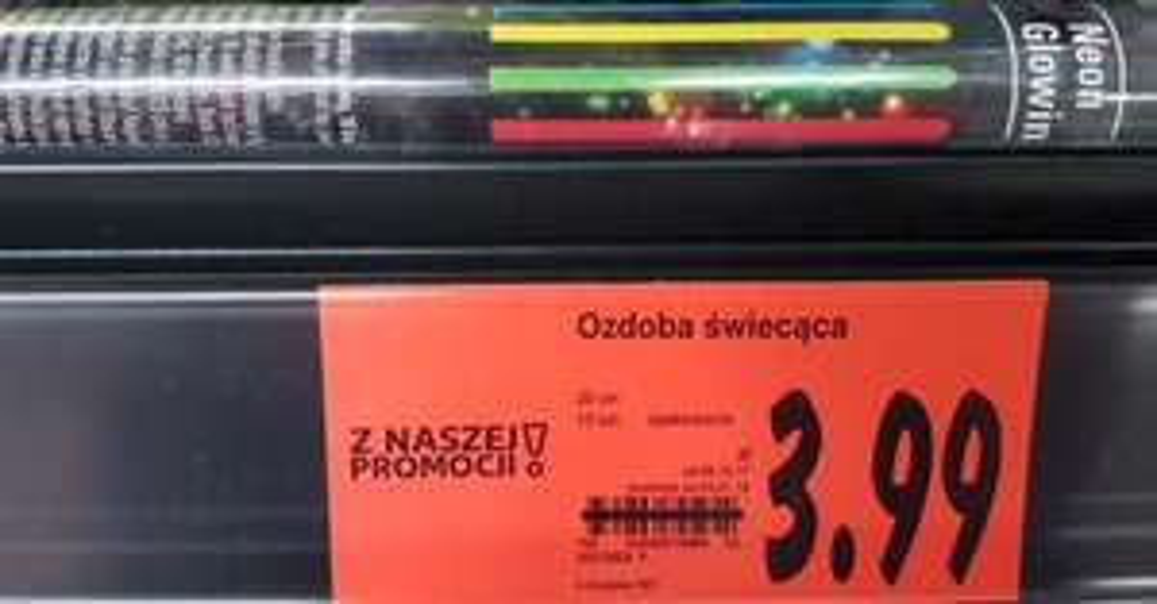 Błąd cenowy - 10x zginane kolorowe paski świetlne (20x0,5cm - 0,10zł za sztukę!) @ Kaufland
