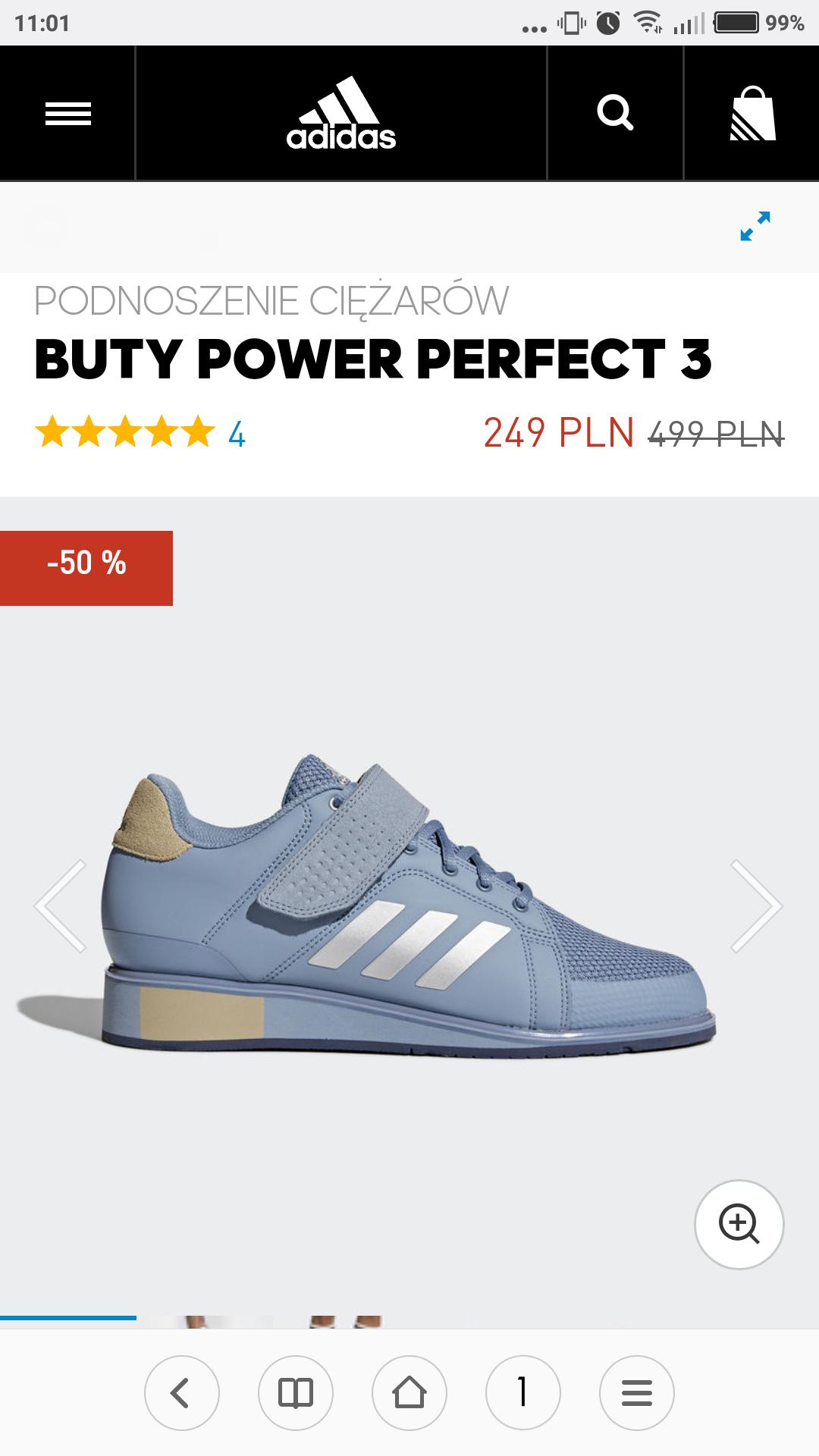 Adidas Power Perfect 3 buty do podnoszenia ciezarów