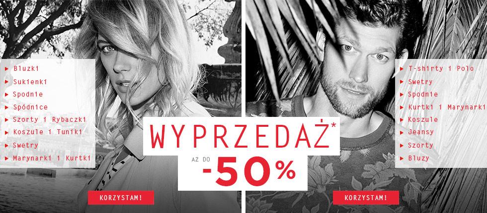Wyprzedaż do -50% (możliwe dodatkowe 10%) @ Promod