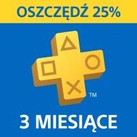 PlayStation Plus 3 msce subskrypcja.
