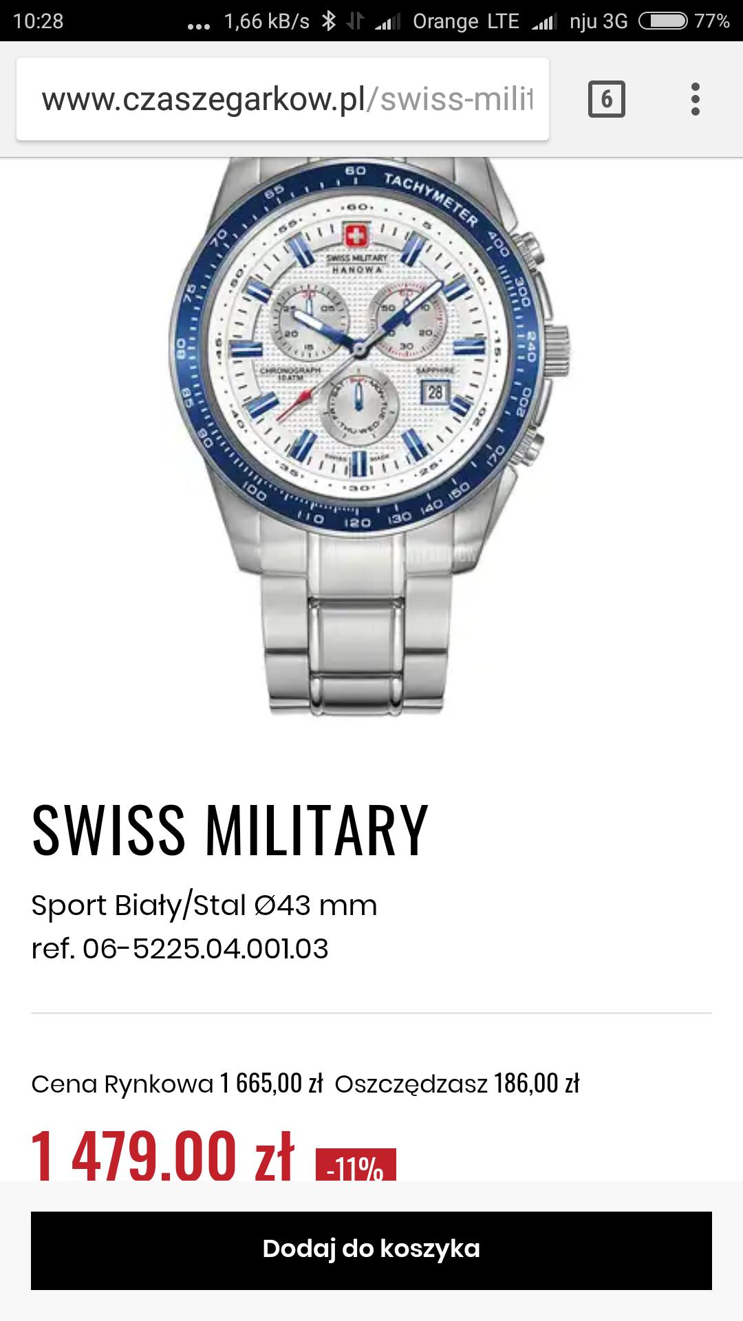 Zegarek Grovana oraz Swiss Military Hanowa