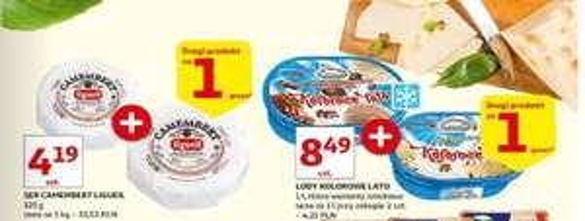 Auchan DRUGI ZA GROSZ, jogurt MiaMu, Lody Koral 1L + inne