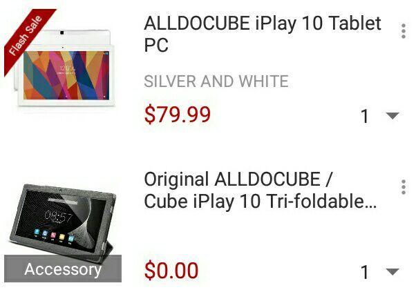 Tablet iPlay 10 z pokrowcem (79.99$)