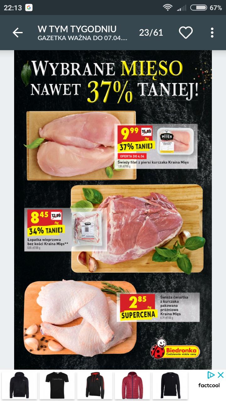 Tanie mięsa w Biedronce od 3.04