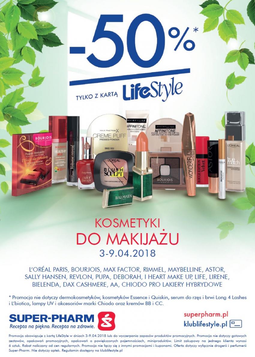 -50% na kosmetyki do makijażu (z kartą) @ Super-Pharm
