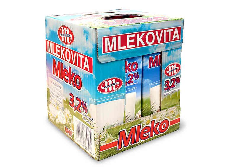 [Lidl] MLEKOVITA Mleko UHT 3,2% (cena 1szt. przy zakupie 6szt.)