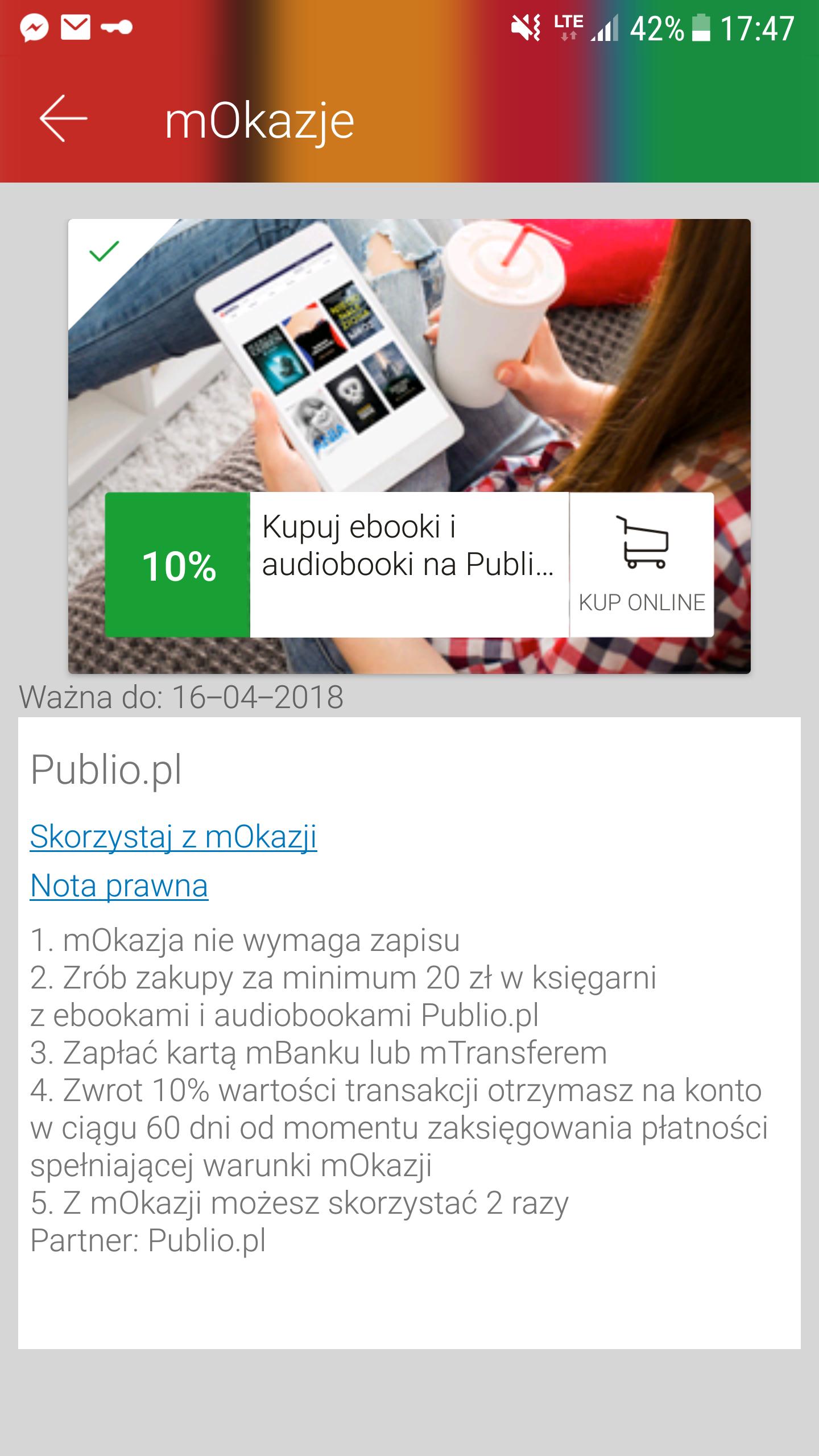 [E-booki i audiobooki] -10% na Publio.pl w mOkazjach
