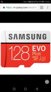 Samsung Evo Plus 128gb micro sd u3