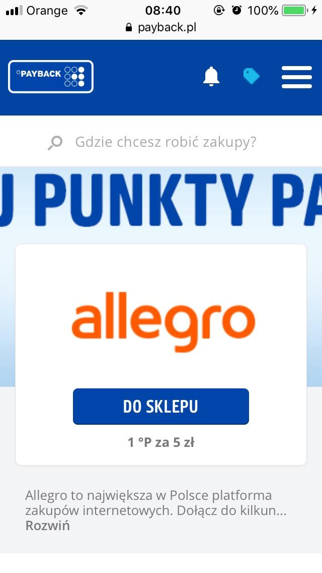 Allegro znów w Payback