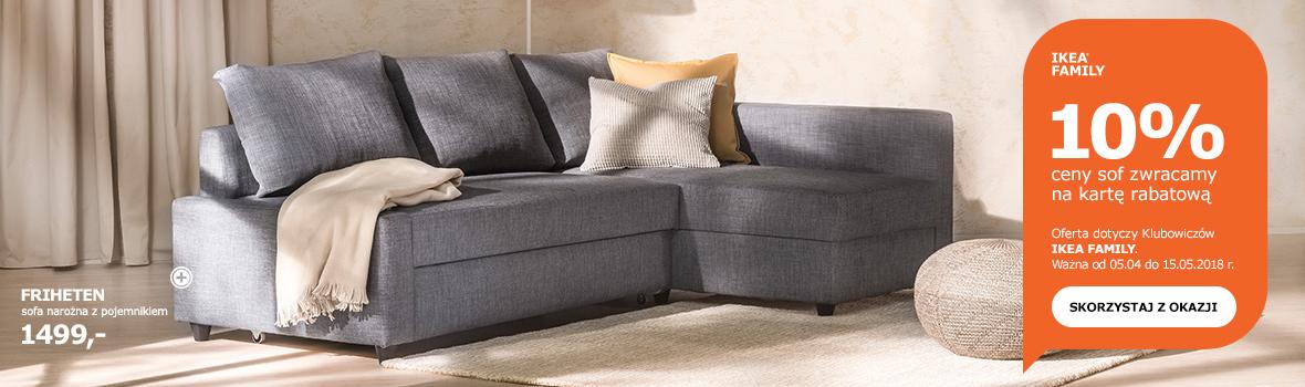 10% rabatu na sofy (zwrot na kartę) @ Ikea