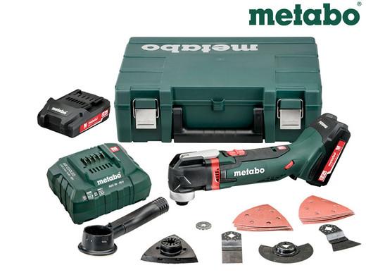 Multinarzędzie Metabo | walizka i 2 baterie 18 V | ładowarka