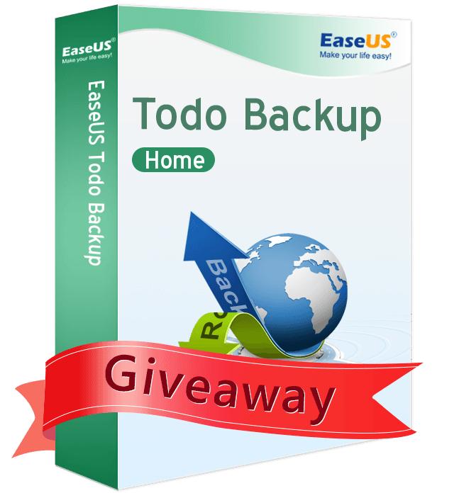 EaseUS Todo Backup Home License for Free [Windows ]