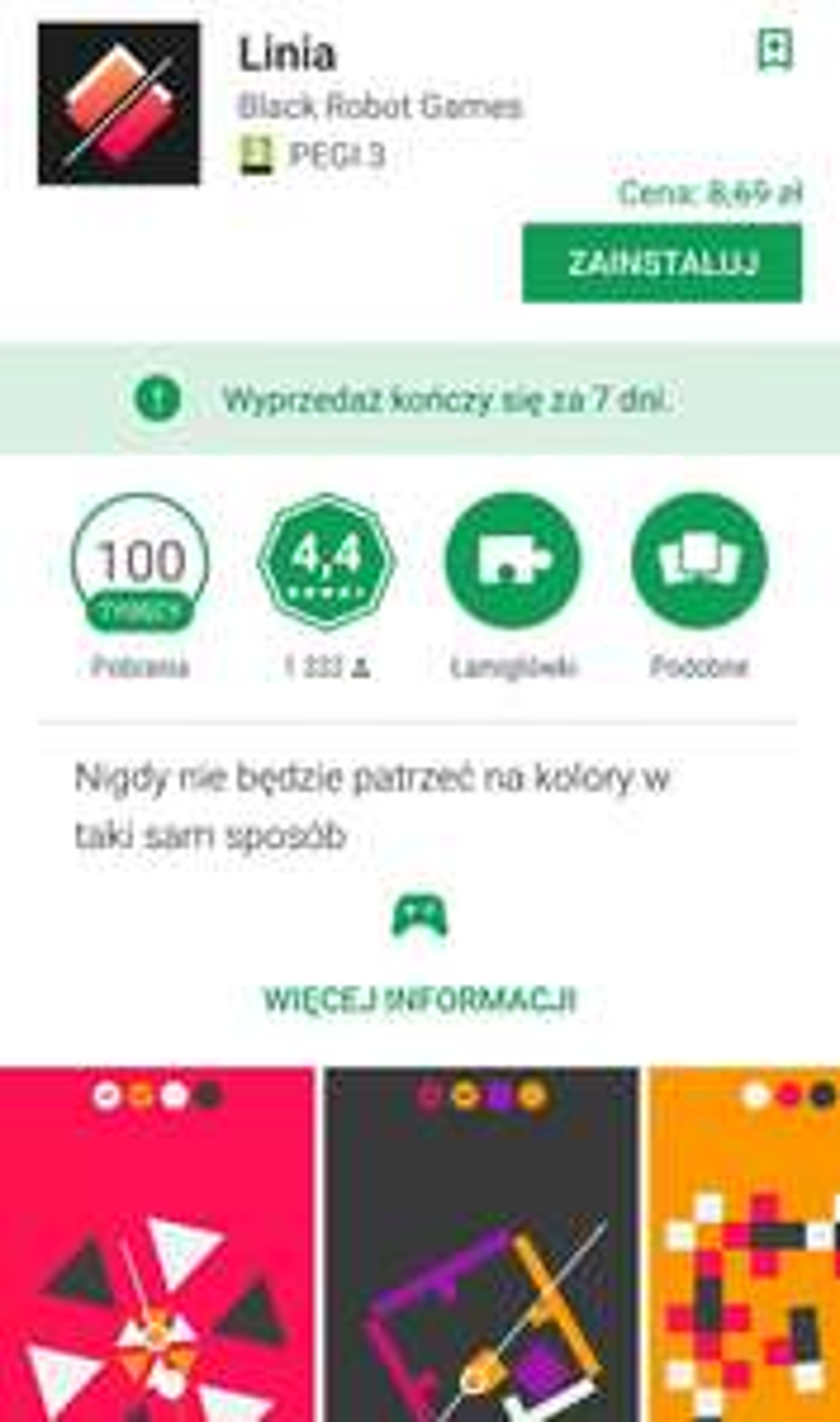 Linia /Android/ gra logiczna