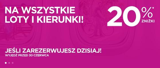 Obniżka cen w Wizz Air – bilety dla wszystkich tańsze o 20% :)