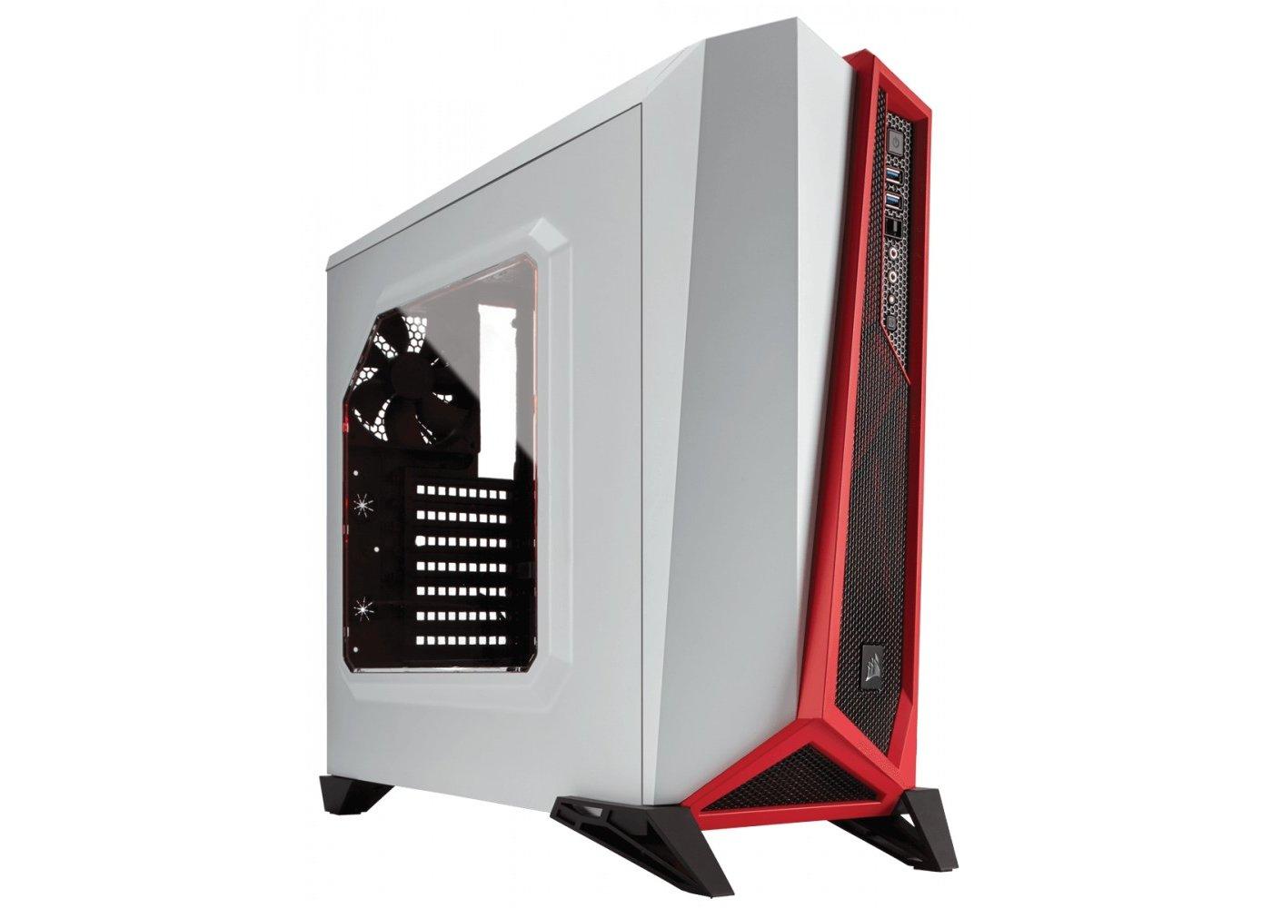 Obudowa komputerowa - Corsair Carbide SPEC-ALPHA White/Red - VOBIS