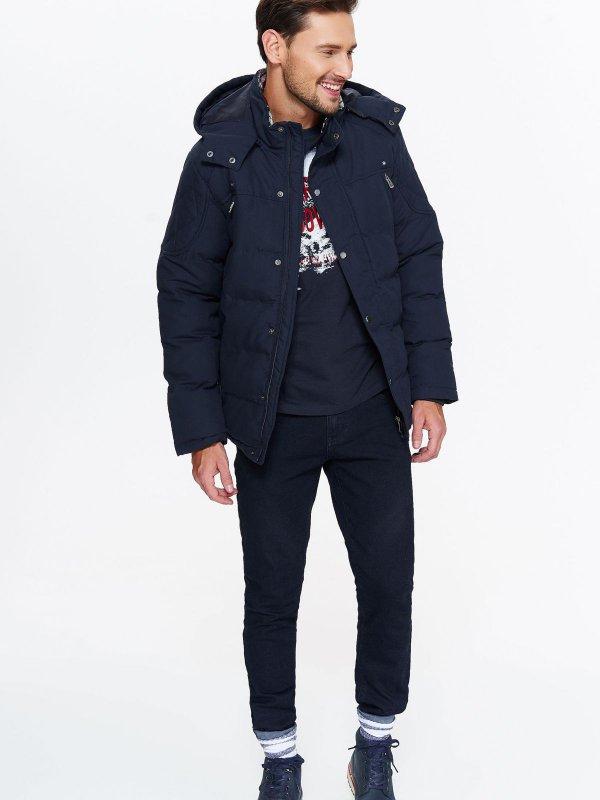Męska kurtka zimowa, granatowa - wszystkie rozmiary @ Top Secret